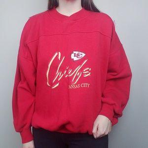 Vintage Kansas City Chiefs Embroidered Crewneck